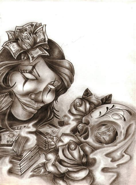 chicano art tattoos chicano by ibraink on deviantart