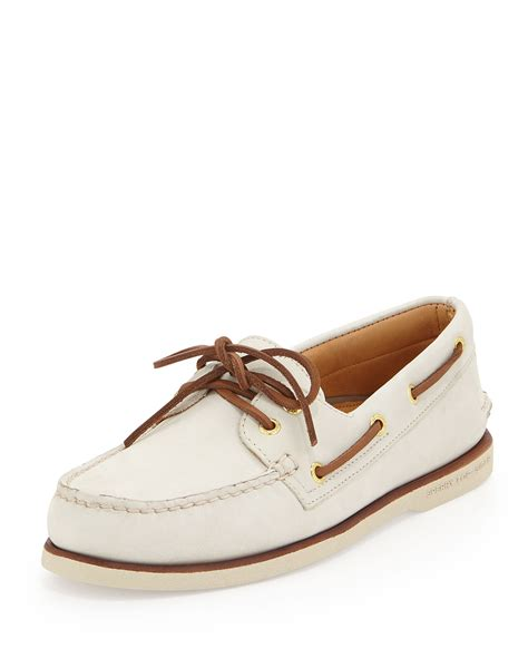 Original Bnwb Sperry Top Sider Goldcup Colored 2 Eye Tanlime lyst sperry top sider gold cup authentic original boat shoe in white