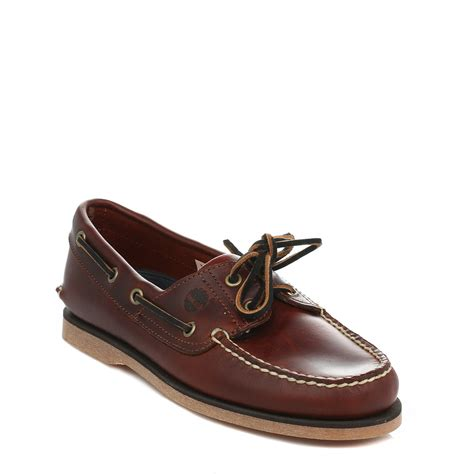 how to lace boat shoes timberland mens classic dark brown boat shoes rootbeer sm