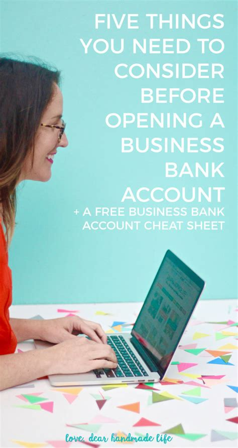 Dear 40 Things You Need To Before You Go why your business needs its own bank account dear handmade