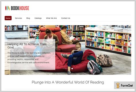wordpress themes book library 5 library wordpress themes free and paid formget