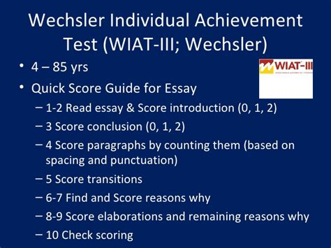 Wiat Scoring Essay wiat iii essay composition word count essay about the words