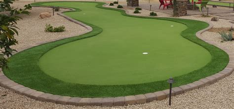 chipping greens for backyards backyard putting greens scottsdale desert crest llc