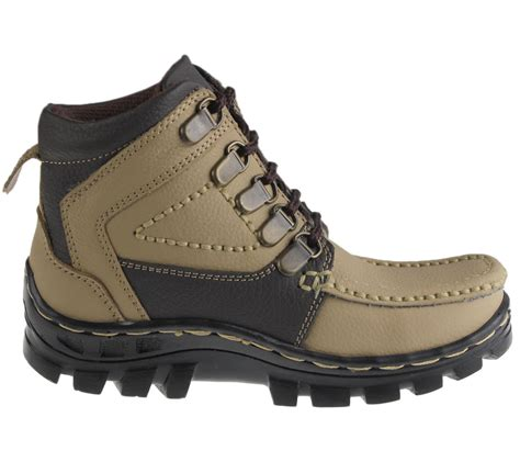 hiking shoes for flat mens boys mild leather comfort boots casual flat lace up