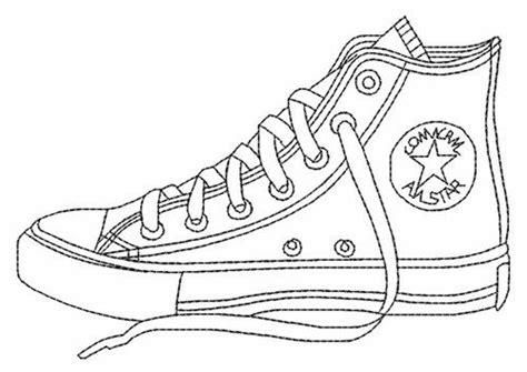 converse shoes coloring pages printable enjoy coloring