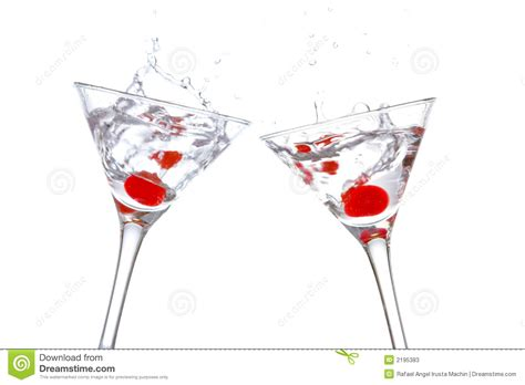 martini two toast with two cocktail glasse stock image image 2195383