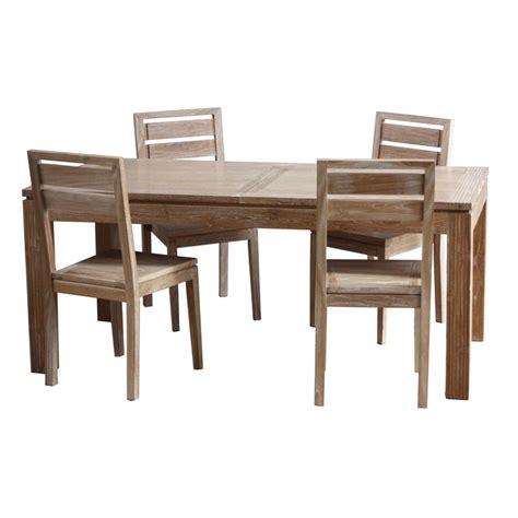 table salle a manger teck table repas extensible en teck macao origin s meubles