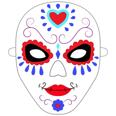 day of the dead skull mask template 94 day of the dead mask template day of the dead masks