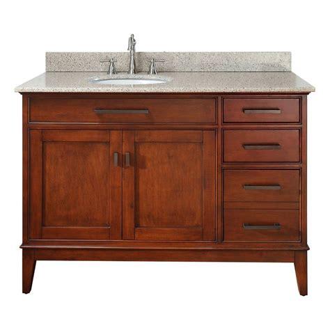 Pegasus Bathroom Vanity Tops Pegasus Manhattan 49 In Vanity In Tobacco With Granite Vanity Top In Beige 11011 Vs49l The