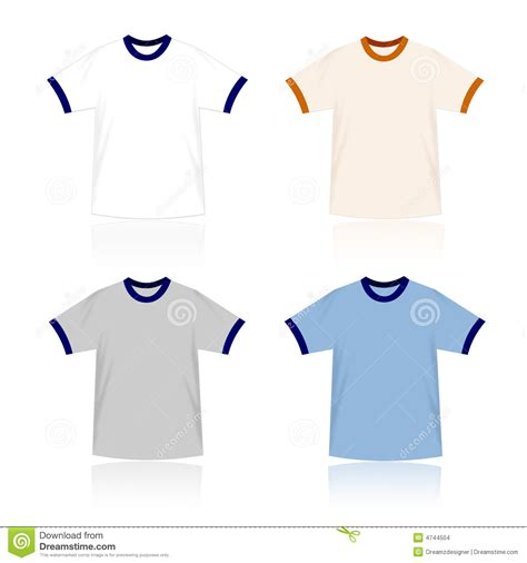 Ringer T Shirts Blank Templates Stock Images Image 4744504 Ringer T Shirt Template