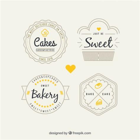 retro bakery logos pack vector premium