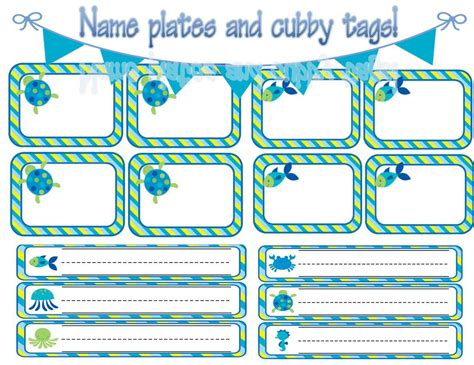 ocean themed desk name tags set of cubbies and work apple calendar templates calendar template 2016