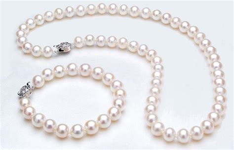 Pearl White Color Necklace aliexpress buy pearl jewelry set white color aaa 9 10mm genuine freshwater pearl necklace