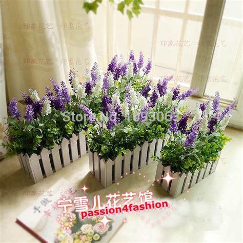 Paket Bunga Plastik Bunga Palsu Bunga Dekorasi Bunga Sintetis 4 aliexpress beli lavender buatan pagar taman kit