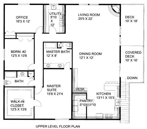2500 sq ft floor plans 2500 square 3 bedrooms 2 batrooms 3 parking space on 2 levels house plan 8514 all