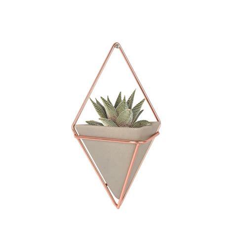 buy umbra trigg small copper wall planters set of 2 amara