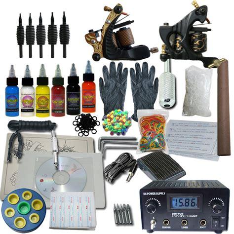 tattoo ink kits wholesale 2 machine apprentice tattoo kit with digital power supply