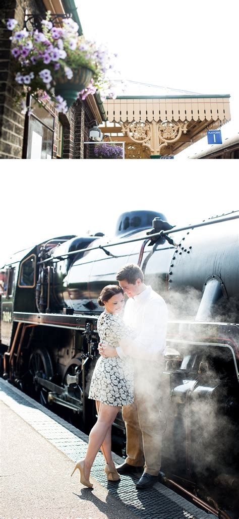 vintage wedding hair norfolk a 40s inspired engagement shoot at sheringham station