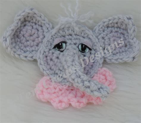 free patterns applique crochet cute elephant applique crochet pattern by crews craftsy