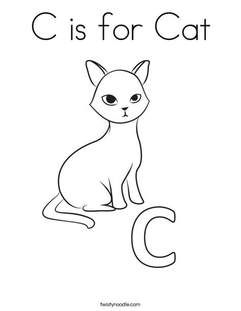 C Is For Cat Coloring Page c is for cat free colouring pages