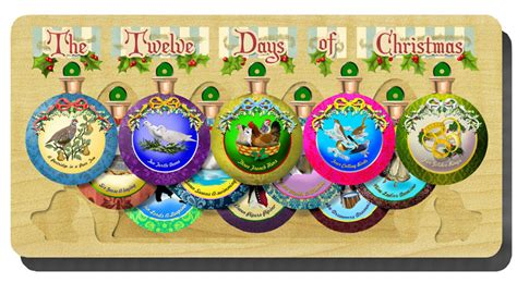 twelve days of christmas crafts 12 days of ornament set puzzlewarehouse