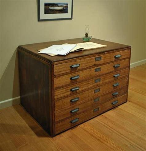 chart drawer antique vintage industrial hardwood frame map drawers plan