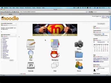 themes moodle 1 9 download moodle 1 9 front page customisation youtube