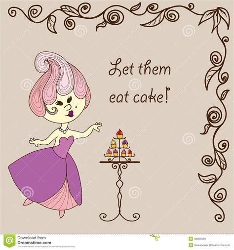 Let Them Eat Cake Styledash by Vector Illustration Princess Eats Cake Stock