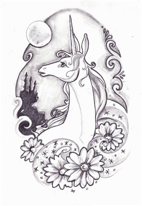 last unicorn tattoo last unicorn design by kyuuketsukirachel on deviantart