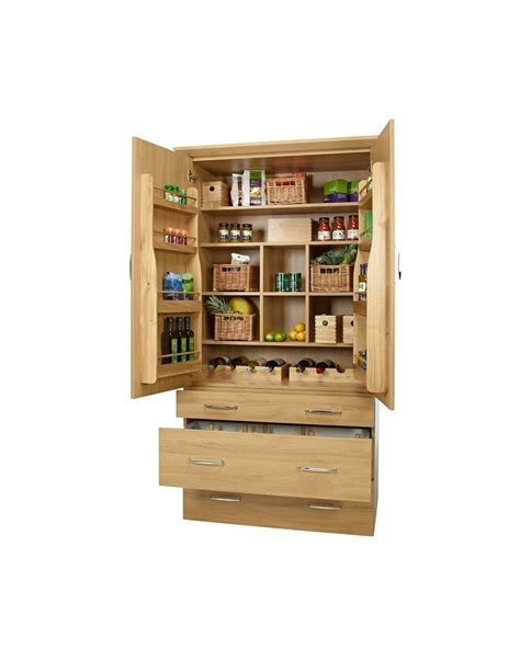 Solid Oak Accessories For Kitchen Pantries, Full Set