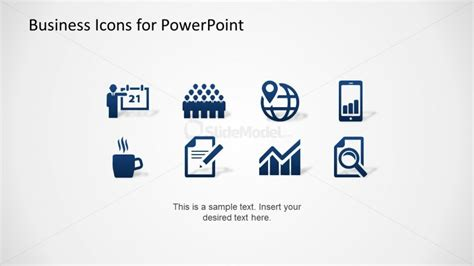 Blue Business Icons Set for PowerPoint   SlideModel