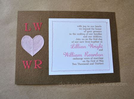 diy wedding invitations valentines and themes