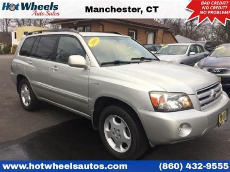 Manchester Toyota Ct Silver Metallic Toyota Highlander Used Cars In Manchester
