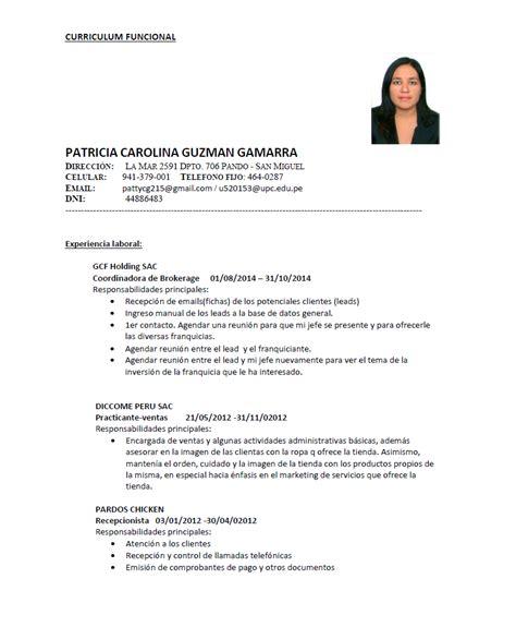 Modelo De Un Curriculum Funcional Guzm 225 N Curriculum Vitae Funcional Y Curriculum Por Logros