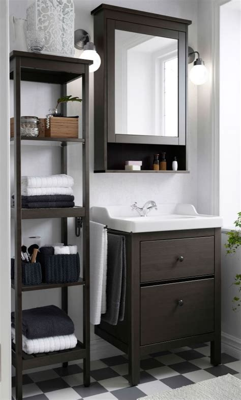 make the most of a small bathroom make the most out of small bathroom spaces like using the hemnes sink cabinet shelf and mirror