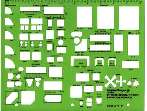 alvin td7161 interior design drafting template kitchen