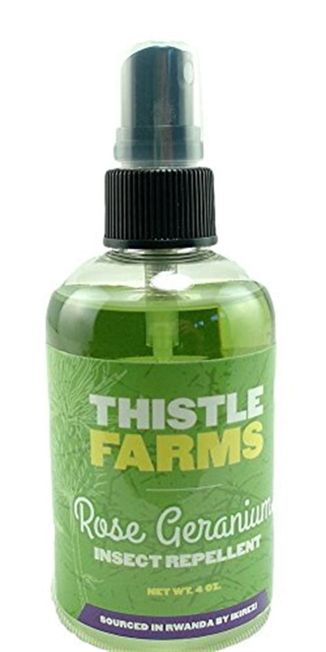 natural mosquito repellent organic rose geranium and lemongrass oil 4 oz deet free by thistle