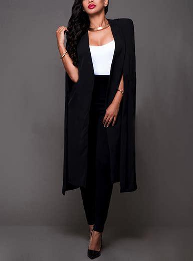 Daster Dress Midi Line s midi length cape duster black