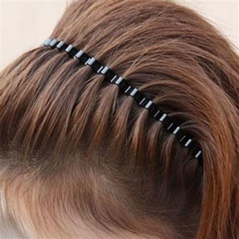 Hair Band fashion mens unisex black wavy hair hoop band