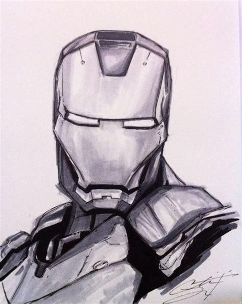iron man sketch by crslozada on deviantart
