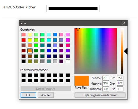 html5 colors html5 color picker our umbraco org
