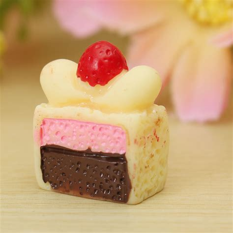 Resin Cake by Diy 14x7mm Resin Kawaii Cake Simulation Food Cabochons For