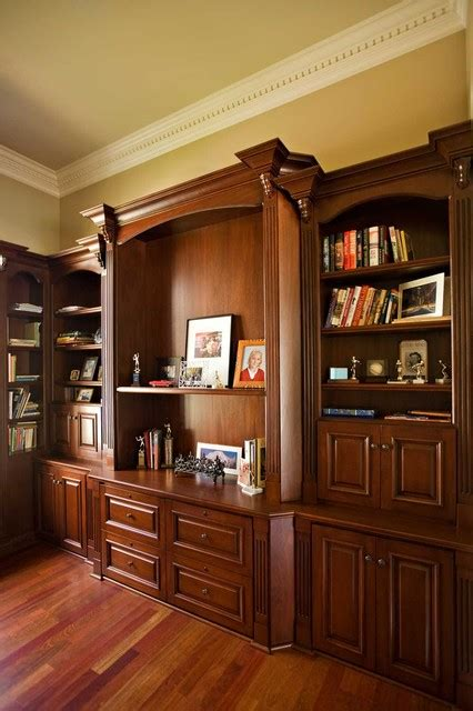 Bay Area Executive Home Office Design With Mahogany Custom Custom Home Office Designs
