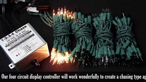 how to make a christmas light controller 4 circuit chasing christmas light controller demonstration