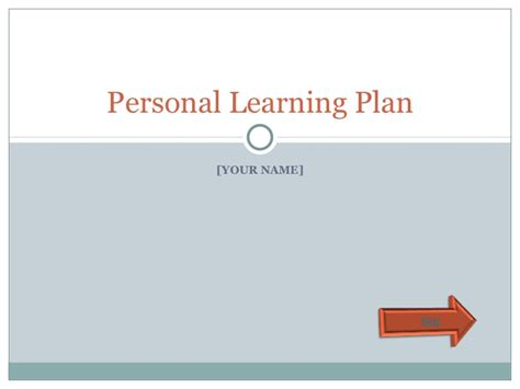 personal learning plan template personal learning plan template