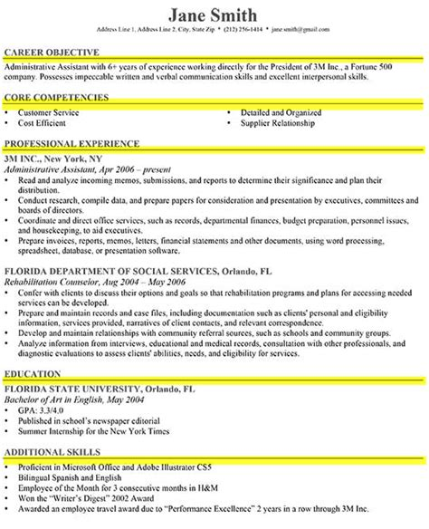 Job Objectives For Resume by How To Write A Great Resume The Complete Guide Resume