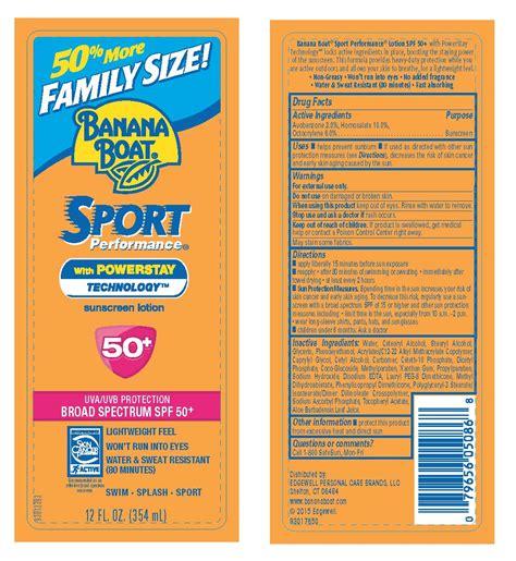 banana boat recall banana boat information side effects warnings and recalls