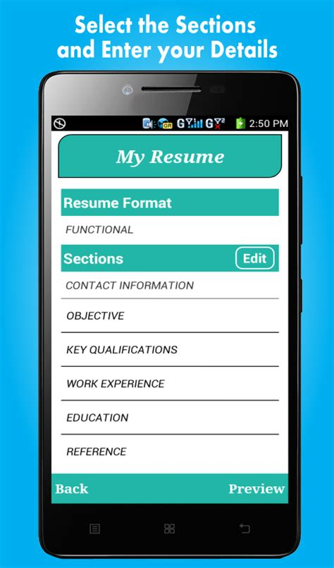 Resume Builder App For Resume Builder Pro 5 Minutes Cv Maker Templates Android Apps On Play