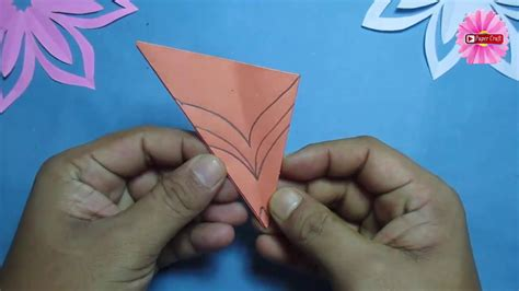 - how to make simple easy paper cutting flower designs